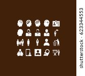 business man icons  vector best ... | Shutterstock .eps vector #623344553
