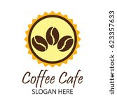coffee shop logos  label  badge ... | Shutterstock .eps vector #623357633