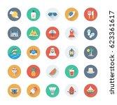 summer and holidays vector... | Shutterstock .eps vector #623361617