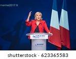 paris  france   april 17  2017  ... | Shutterstock . vector #623365583
