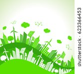 save nature concept with... | Shutterstock .eps vector #623366453