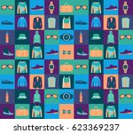 vector seamless pattern of... | Shutterstock .eps vector #623369237