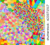 seamless pattern with rainbow...   Shutterstock .eps vector #623371517