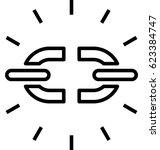 unlink vector icon | Shutterstock .eps vector #623384747