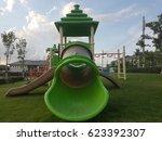 children's playground  the...   Shutterstock . vector #623392307