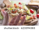 breakfast vegetarian | Shutterstock . vector #623394383