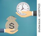 time is money illustration ... | Shutterstock .eps vector #623397413