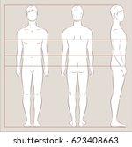vector illustration of men's... | Shutterstock .eps vector #623408663