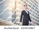 modern successful smiling... | Shutterstock . vector #623414867