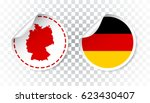 germany sticker with flag and... | Shutterstock .eps vector #623430407