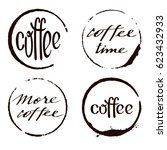 vector set of cofee ring stains ... | Shutterstock .eps vector #623432933