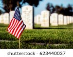 a flag on a grave at a southern ... | Shutterstock . vector #623440037