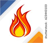 flame icon | Shutterstock .eps vector #623443103