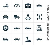 auto icons set. collection of... | Shutterstock .eps vector #623457833