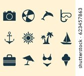 season icons set. collection of ... | Shutterstock .eps vector #623457863