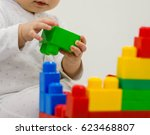 close up of child's hands... | Shutterstock . vector #623468807