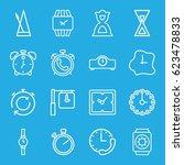 timer icons set. set of 16... | Shutterstock .eps vector #623478833