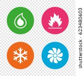 hvac icons. heating ... | Shutterstock .eps vector #623480603