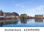 port louis le caudan waterfront ... | Shutterstock . vector #623496983