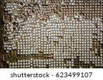 background of an old abandoned... | Shutterstock . vector #623499107