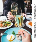 couple having a brunch with... | Shutterstock . vector #623503007