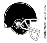 vector black and white american ... | Shutterstock .eps vector #623513057
