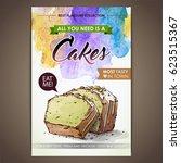 Cake Poster. Watercolor  ...