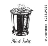 cocktail mint julep for the...   Shutterstock . vector #623519393