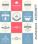 collection of photography and... | Shutterstock . vector #623524877