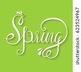 spring   unique design elements ... | Shutterstock . vector #623524967