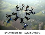 skydive formation | Shutterstock . vector #623529593