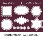 set of lace napkins different... | Shutterstock .eps vector #623536907