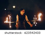 Man Doing Tricks With Fire