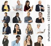 collection of diverse people... | Shutterstock . vector #623560187