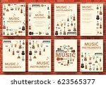 festival music instruments... | Shutterstock .eps vector #623565377