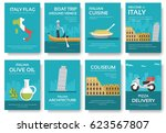 country italy travel vacation... | Shutterstock .eps vector #623567807