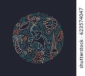 vector illustration of thailand.... | Shutterstock .eps vector #623574047