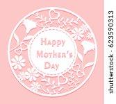 cute cartoon happy mother day...   Shutterstock .eps vector #623590313