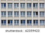 windows on the facade of a... | Shutterstock . vector #62359423