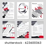 abstract vector layout... | Shutterstock .eps vector #623600363