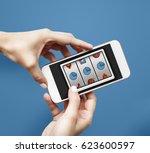casino roulette game gamble... | Shutterstock . vector #623600597