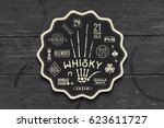 coaster for whiskey and... | Shutterstock .eps vector #623611727