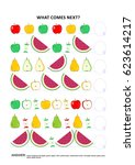fruit and berry themed... | Shutterstock .eps vector #623614217