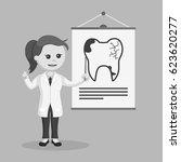 black and white woman dentist... | Shutterstock .eps vector #623620277