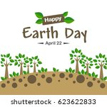 earth day concept illustration... | Shutterstock .eps vector #623622833