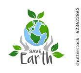 earth day concept illustration... | Shutterstock .eps vector #623622863
