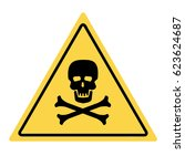 danger skull and bones sign.... | Shutterstock .eps vector #623624687