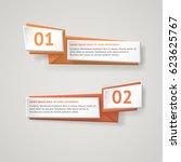 vector infographic origami... | Shutterstock .eps vector #623625767