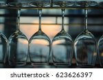 glass of wine with a sunset | Shutterstock . vector #623626397