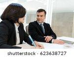 business meeting in office | Shutterstock . vector #623638727
